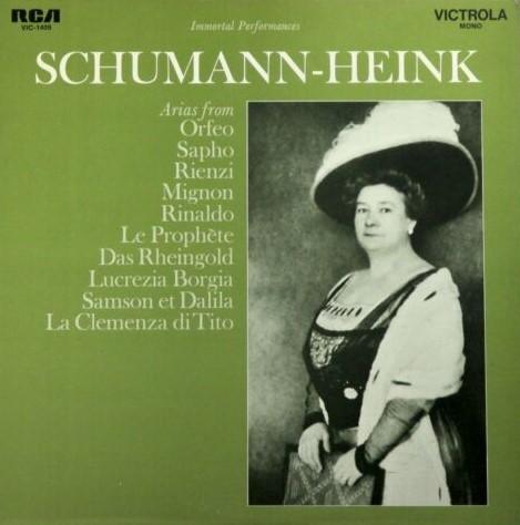 Schumann-Heink Victrola LP